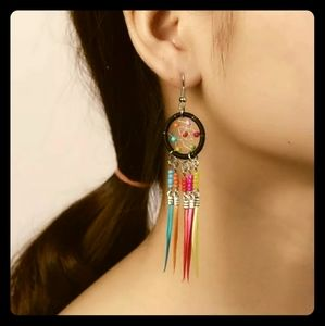 Jewelry - 🌀Rainbow Colored🌀Dream Catcher Earrings🌀